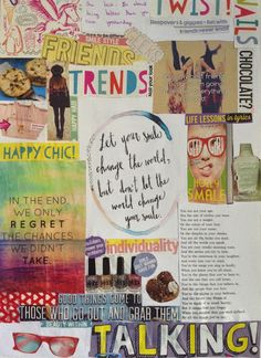 Em's World | Talking Through The Screen: DIY Poster/collage