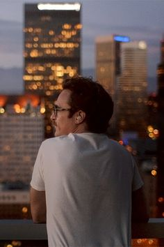 Joaquin Phoenix as Theodore Twombly in Her written, directed, and produced by Spike Jonze.