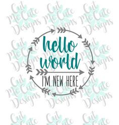 SVG DXF PNG cut file cricut silhouette cameo scrapbooking Hello World Newborn by CutMeCuteDesigns on Etsy