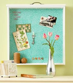 Upcycled Drawer Projects - The Cottage Market this would be cool with a metal back
