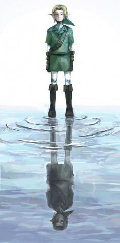 Link / Shadow Link ~ The Legend of Zelda #OoT Water Temple