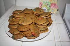 M Chocolate Chip Cookies | So Very Domestic