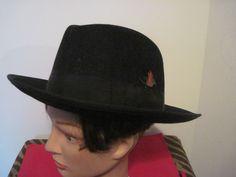 Hustler Empire State Fashions Black Hat 100% Wool Fedora Trilby medium #HustlerEmpireStateFashions #FedoraTrilby