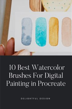 Top 10 Best Watercolor Brushes For Digital Painting in Procreate (Free Paid) – Delightful Des Web Design Tips, Web Design Trends, Blog Design, Personal Website Design, Minimal Website Design, Best Watercolor Brushes, Watercolor Kit, Website Design Inspiration, Graphic Design Inspiration