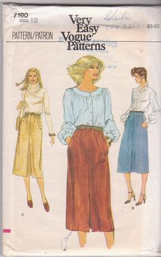 1980s vintage sewing pattern for modest by beththebooklady on Etsy, $5.99