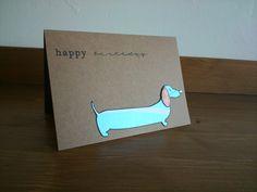 Dog Birthday Card  boy's birthday card male by pieceofpaperthings, £2.50