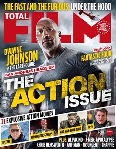 Cover TOTAL FILM Magazine 230, February 2015. San Andreas heads up. First loock: Fantastic Four.