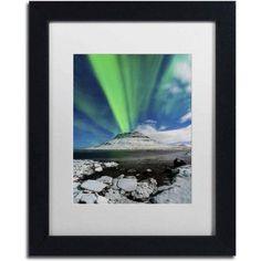 Trademark Fine Art 'Auroral Eruption' Canvas Art by Michael Blanchette Photography, White Matte, Black Frame, Size: 11 x 14, Assorted