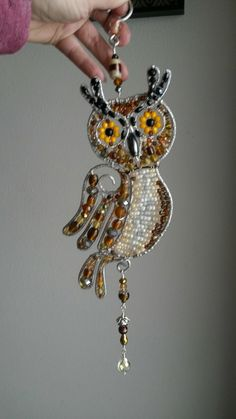 Owl suncatcher, #suncatcher #wirewrapped #wiresculpture
