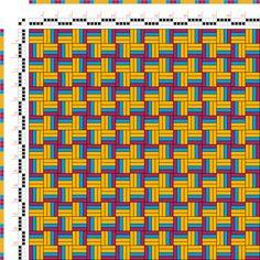 draft image: Figurierte Muster Pl. XXII Nr. 5 (b), Die färbige Gewebemusterung, Franz Donat, 2S, 2T