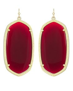 Perfect for game day! Danielle Earrings in Dark Red - Kendra Scott Jewelry.