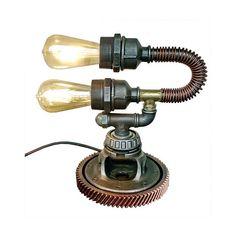 Industrial light, Industrial steampunk lighting, Loft lamp, Vintage lamp, Rustic lamp, Edison light, Pipe lamp, Desk lamp, Industrial lamp