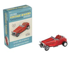 Gentlemen (AND ladies) start your engines.... or should we say wind them up?  Make your own vintage racers wind up red racing car with this super cool kit from Lark!  This 3D puzzle with moving parts comes with a wind up motor and easy to follow instructions included in a gift box. This 28 piece, click together model is easy to assemble and requires no scissors or glue.  Little Boo-Teek - Shop Lark Online | Kids Toys Online | Kids Puzzles Online