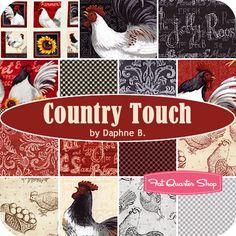 <3 Fabric [Country Touch Fat Quarter Bundle Daphne B. for Wilmington Prints ($52.00 per Bundle)]