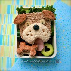 guau ;) este sí que es un sandwich perruno para #niños a los que les gusta la comida divertida.