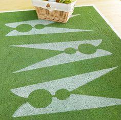 stencil laundry room rug