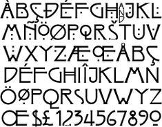 Glasgow Style Arts & Crafts font