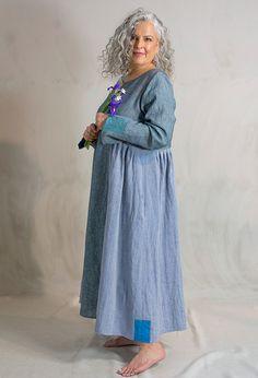 Pleated Summer dress £325, linen.