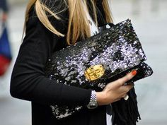 I love this sequin clutch.