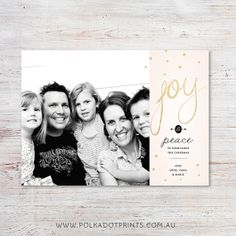 SPARKLING JOY Christmas Card | by Polkadot Prints
