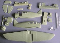 Spartan 7W Executive pieces of the kit 1/72 scale model kit