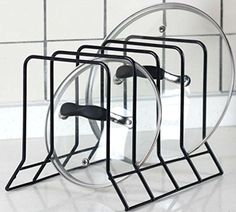 Kitchen Bakeware Pot Lid Rack Holder Organizer (Black) Hopeful by Long-Lived http://www.amazon.com/dp/B00XB84W4I/ref=cm_sw_r_pi_dp_PDH4vb0RXGB39