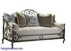 Highland House French Country Provence Iron Sofa Discount Furniture at Hickory Park Furniture Galleries French Country Sofa, Country Sofas, French Sofa, Parks Furniture, Iron Furniture, Steel Furniture, Home Furniture, Furniture Stores, Cheap Furniture