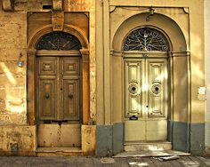 Love the sunlight on these #Maltese #Doors | Bibien by Worldwide Photo Artists