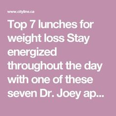 Top 7 lunches for weight loss Stay energized throughout the day with one of these seven Dr. Weight Loss Detox, Weight Loss Challenge, Weight Loss Plans, Weight Loss Tips, Good Carbs, Gm Diet, Healthy Detox, Detox Foods, Healthy Eats