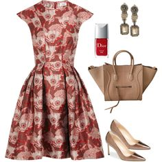 Beautiful Floral Print Anytime Dress !!!