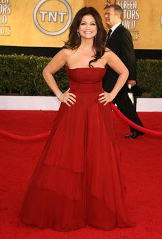 Red gown... Bella  Valerie Bertinelli