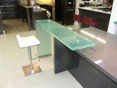 Raised Glass Countertops - CGD Glass Countertops