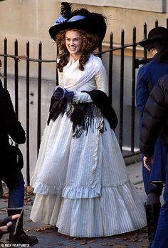 Keira Knightley as Georgina Duchess of Devonshire in the movie The Duchess.  Late Georgian period costume
