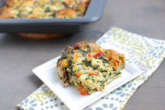 Sausage & Vegetable Egg Bake ‹ Hello Healthy