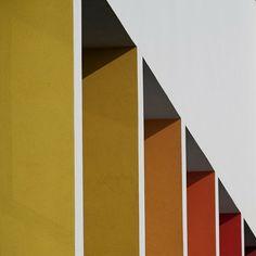 colors // BAHCS Architects // Szent-Györgyi Albert Agora in Szeged // photo © Zsolt Frikker