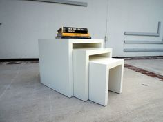 MODERN White Nesting Tables Los Angeles by HouseCandyLA on Etsy