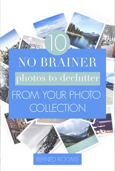 "Wondering what photos toss during your photo declutter session? Don't let ""overwhelm"" stop you from decluttering that chaotic photo collection! I've compiled a list of 10 ""no brainer' photo categories that you can easily purge without any decision-making! School Paper Organization, Receipt Organization, Small Space Organization, Home Organization Hacks, Organizing Your Home, Organizing Tips, Newborn Photos, Photo Book, Your Photos"