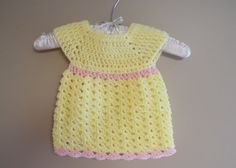 Crochet Baby Dress Yellow Infant Girl Clothes Summer by | http://awesomesummerclothes.blogspot.com