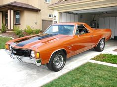 El Camino SS 1972 SS, with Auto Transmission, Cowl Air Induction, Headers, Street/Race Cam. Old Muscle Cars, Chevy Muscle Cars, American Muscle Cars, Classic Trucks, Classic Cars, Hot Rods, Sweet Cars, Us Cars, Vintage Trucks