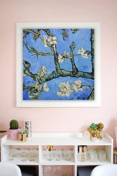 Blossoming almond branches digital art print Flowering | Etsy Lake Painting, Forest Painting, Dragon Oil, Digital Prints, Digital Art, Unicorn Painting, Original Paintings, Oil Paintings, Beautiful Paintings