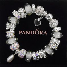 Authentic Pandora Bracelet or non-branded European charm bracelet~Genuine Swarovski Pearl~Free Shipping~Pandora hinged gift box!