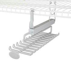 rubbermaid support coulissant pour cravates et ceintures. Black Bedroom Furniture Sets. Home Design Ideas