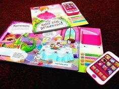 """Toto moderní leporelo s """"chytrým telefonem"""" představuje zcela nový, interaktivní přístup k učení dětí. Ty se zde seznámí s pohádkovým světem princezen.#kniha #leporelo #zvukove #deti"""