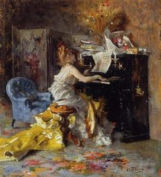 Giovanni Boldini Woman at a Piano painting for sale, this painting is available as handmade reproduction. Shop for Giovanni Boldini Woman at a Piano painting and frame at a discount of off. Giovanni Boldini, Johannes Vermeer, Arte Do Piano, Piano Art, Piano Music, Italian Painters, Italian Artist, John Singer Sargent, Oeuvre D'art