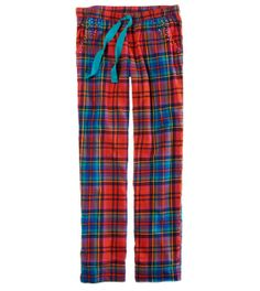 Plaid Sleep Pant with Rhinestone Details. #MerryAerie