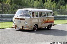 Date: 31 July - 2 August Spa Francorchamps, Belgium Vw T2 Camper, Volkswagen Bus, Kombi Home, Van Camping, Bay Window, Campervan, Van Life, Buses, Dream Cars