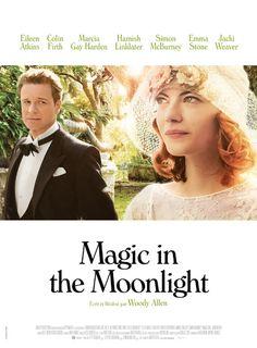 MAGIC IN THE MOONLIGHT  usqu'ici j'ai adoré tous les films de Woody Allen que j'ai vus pour leur style si particulier… Pour cette comédie romantique nous nous offrons, les années 20 dont j'apprécie l'ambiance, bien entendu une bande son Charleston dont je raffole, un Colin Firth parfait et cette couleur et lumière si particulière à la méditerranée… le tout sur un petit fond de magie. Un vrai régale !