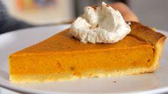 Pumpkin Pie (Amerikanischer Kürbiskuchen) Rezept als Back-Video zum selber machen! Ganz einfach Schritt für Schritt erklärt!
