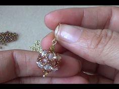 38 ideas diy jewelry tutorials earrings swarovski crystals for 2019 Beaded Beads, Beaded Earrings Patterns, Beading Patterns, Beaded Jewelry, Handmade Jewelry, Beaded Bracelets Tutorial, Earring Tutorial, Diy Jewelry Tutorials, Beading Tutorials