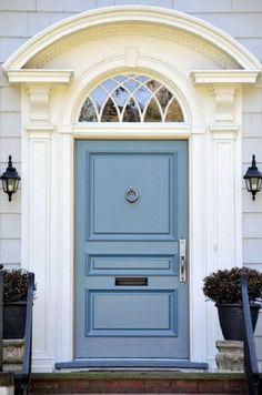 Gray & Cream with Blue Gray door